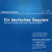 2003_Brahms Requiem